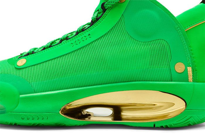 Air Jordan 34 Pe Green Close Heel