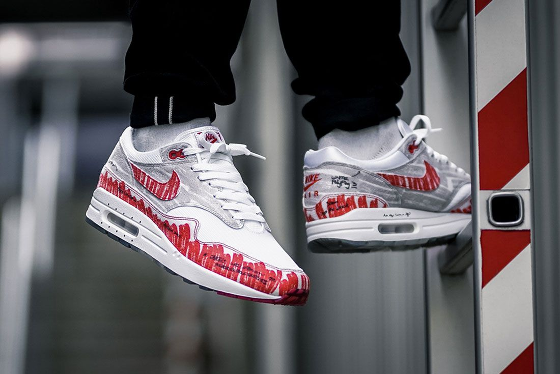 Nike Air Max 1 Sketch To Shelf On Foot Header