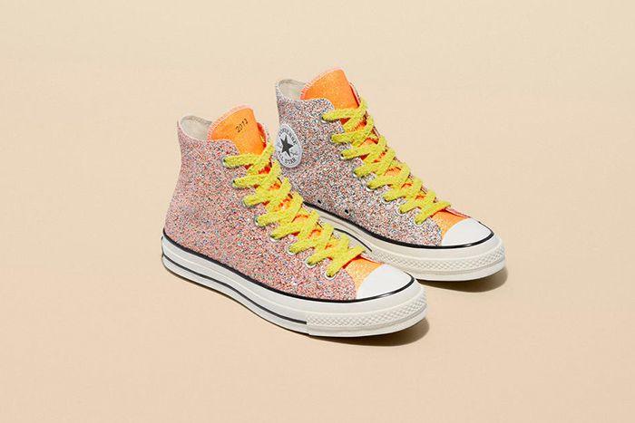 Jw Anderson Converse Chuck 70 Orange Yellow Glitter Release Date Pair