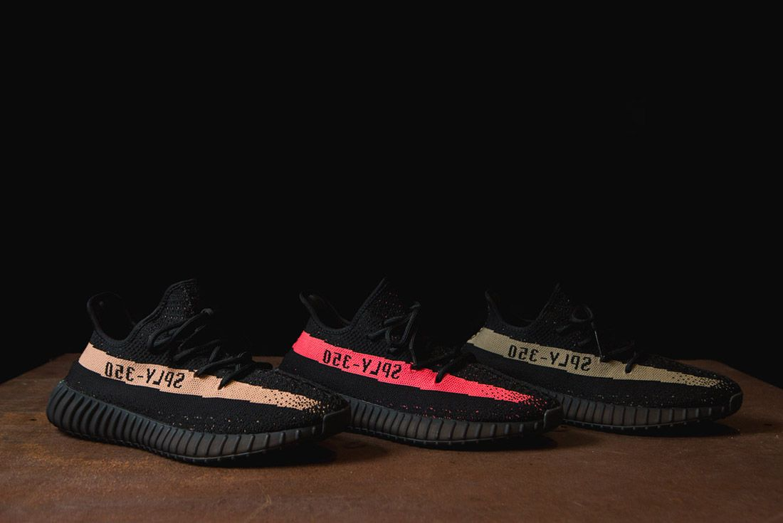 Adidas Originals Yeezy Boost 350 V2 Black Copper Solar Red Green 9