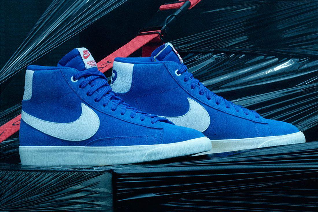 Stranger Things Nike Blazer Blue Og Collection Ck1906 400 Three Quarter Lateral Side Shot