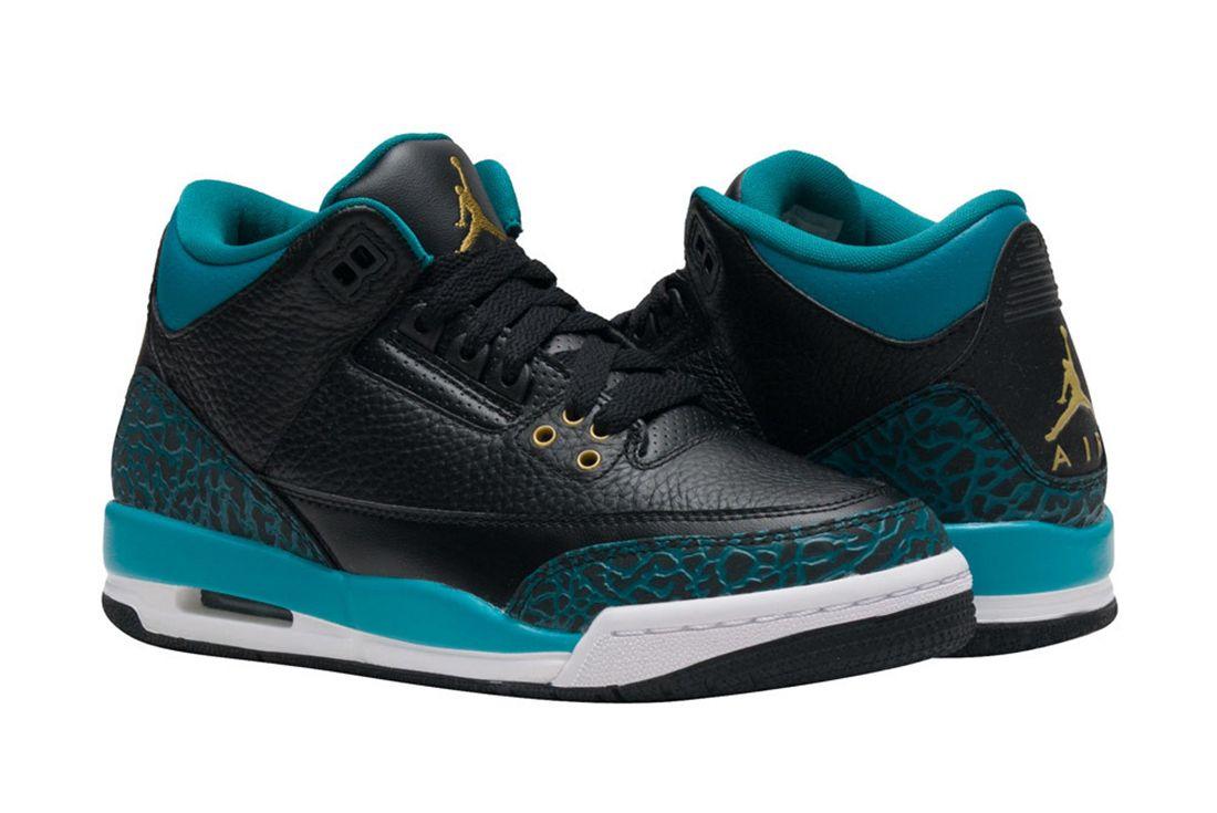 Air Jordan 3 Gs Rio Teal2