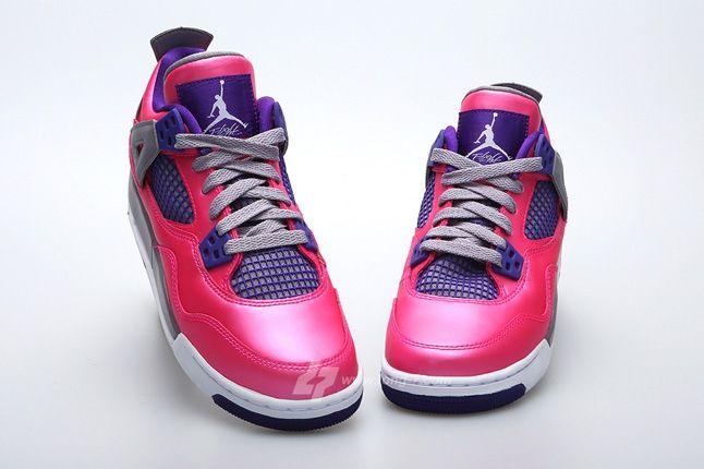 Air Jordan 4 Pink Foil Hero Front