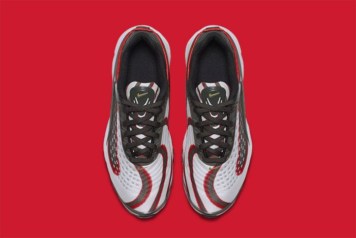 Nike Air Max Deluxe Grey Red 2