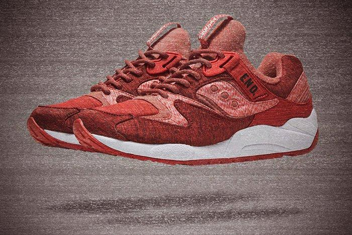 End X Saucony Grid 9000 Red Noise