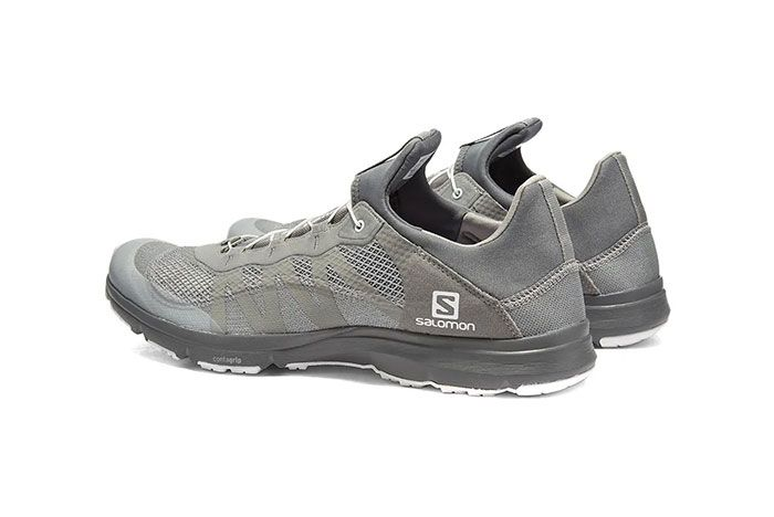 And Wander Salomon Xa Amphib Silver Rear Angle