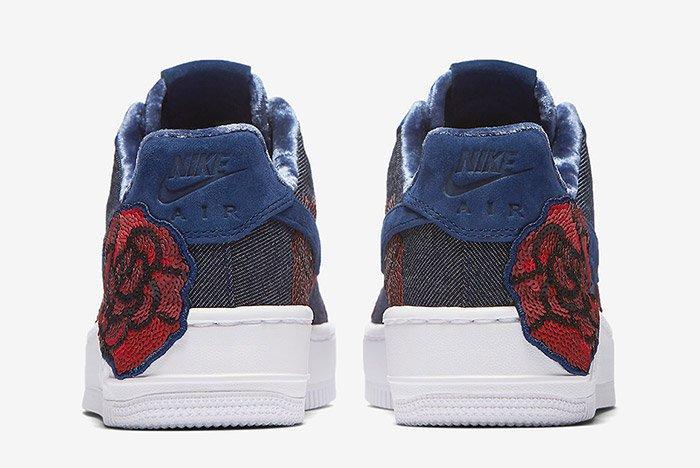 Nike Air Force 1 Denim Floral Seqine 9