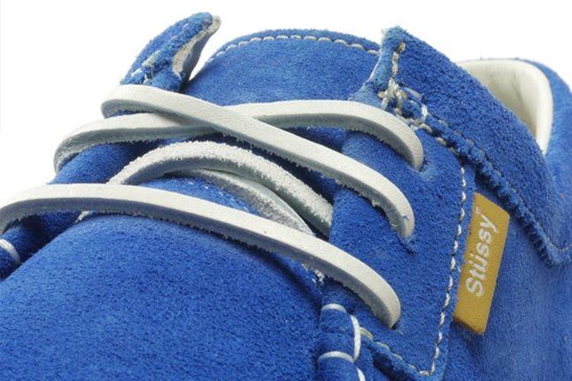 Stussy Timberland Moc Toe Blue Lace Detail 1