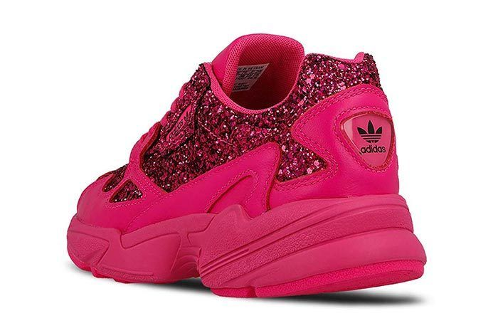 Adidas Falcon Shock Pink Sequins 3
