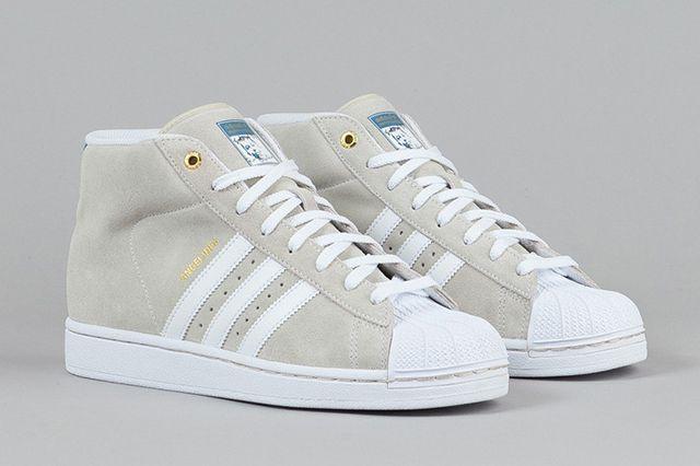 Adidas Pro Model Richard White White St Stonewash