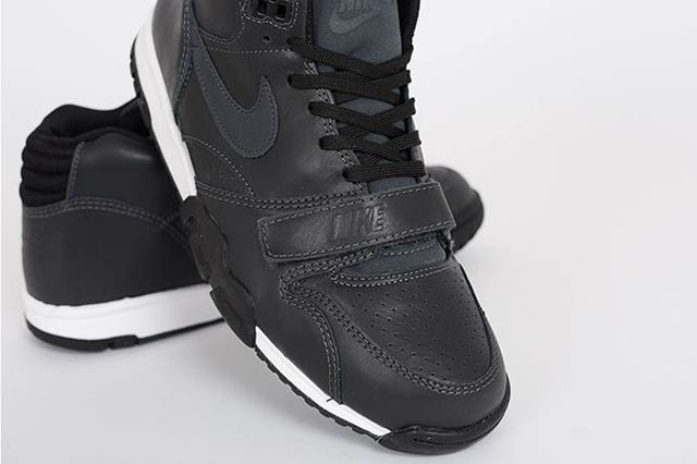 Nike Air Trainer 1 Mid Anthracite Black Leather 3