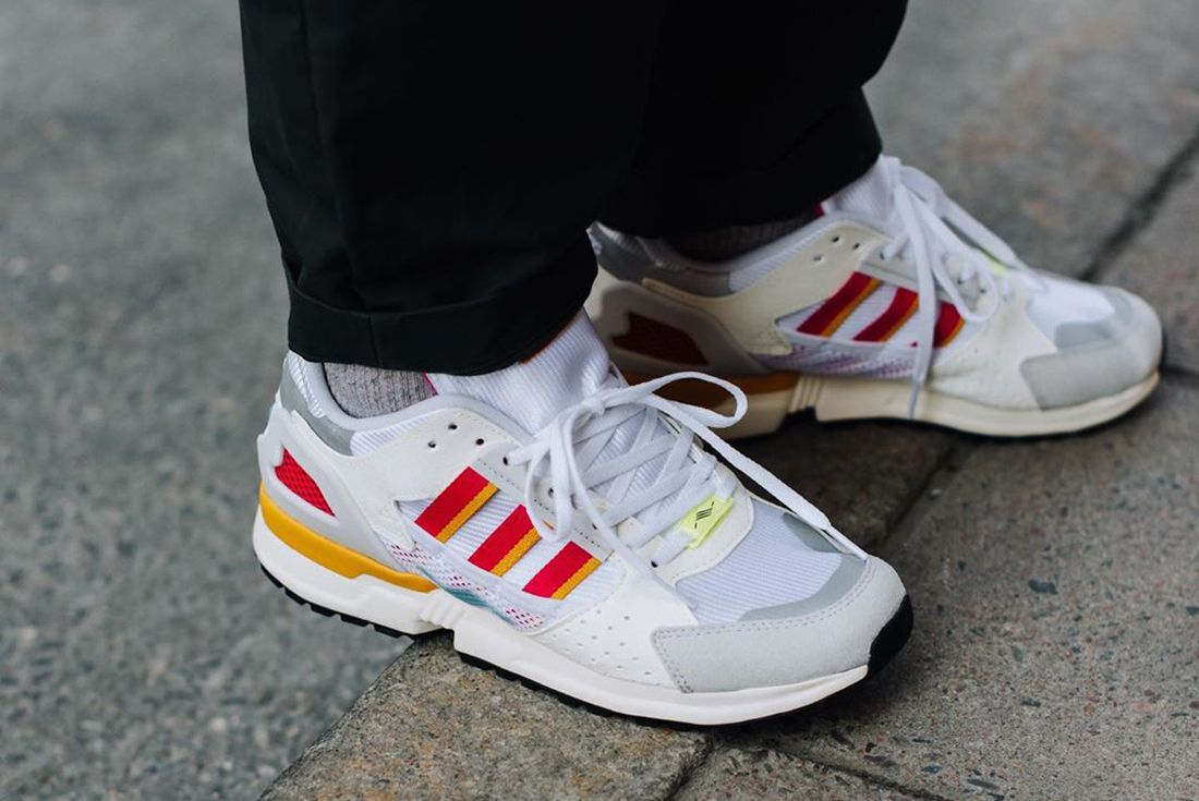 adidas ZX 10.000C White on foot