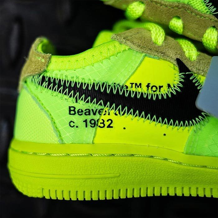 Off White Air Force 1 Volt Toddler 4