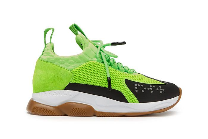 Versace Cross Chainer Green White Gum Runway Ss19 Release Information 1 Side