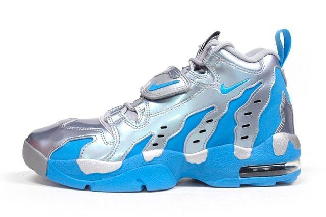 Nike Air Dt Max 96 Metallic Silver Vivid Blue 4