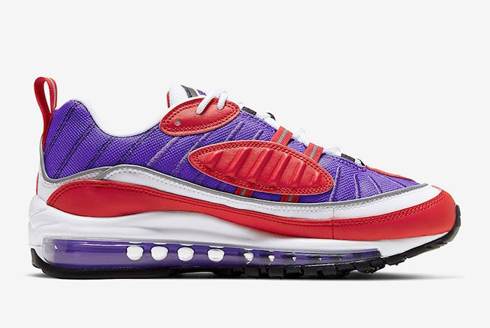 Nike Air Max 98 Psychic Purple University Red Ah6799 501 Release Date 2 Side