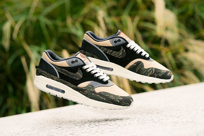 BespokeIND's Carhartt-inspired Nike Air Max 1 'Tiger Camo' Customs