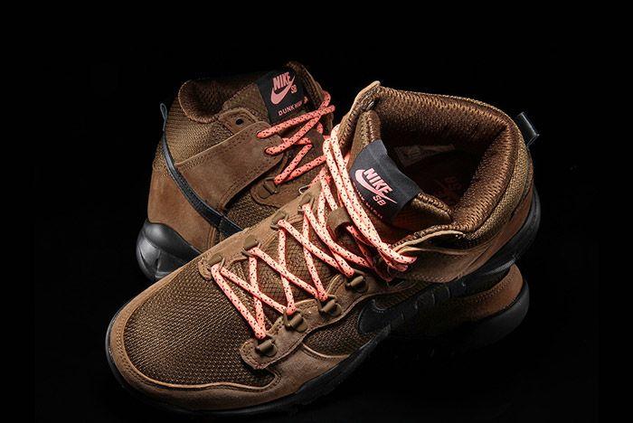 Nike Sb Dunk Hi Boot Military Brown 1