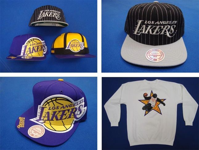 And Still X Mitchell Ness Lakers Snapbacks 1