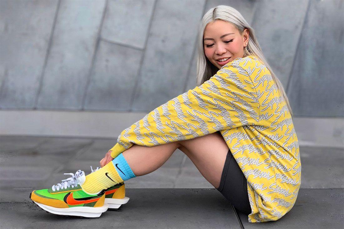 Nike Female Sneakers Sacai Ldvwaffle Li Anne
