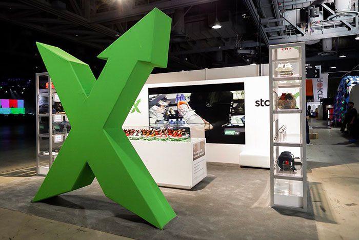 Stock X Stand Photo