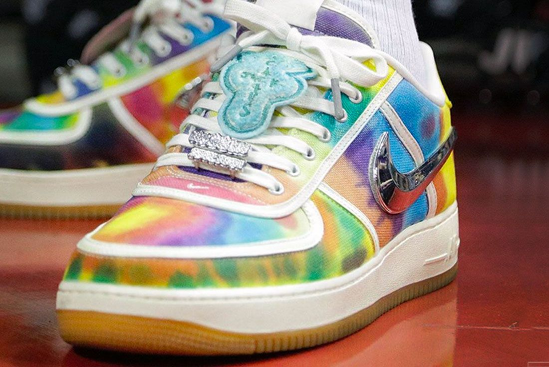 Travis Scott Air Force 1 Tie Dye Toe