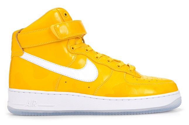 Nike Air Force 1 High Comfort Premium Yellow 1