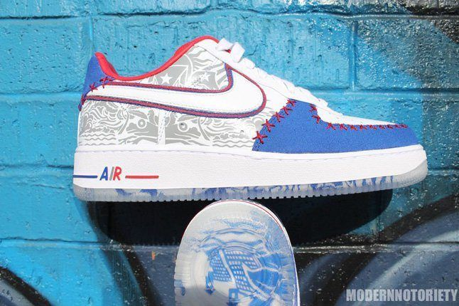 Nike Af1 Puerto Rico Heel Profile 1