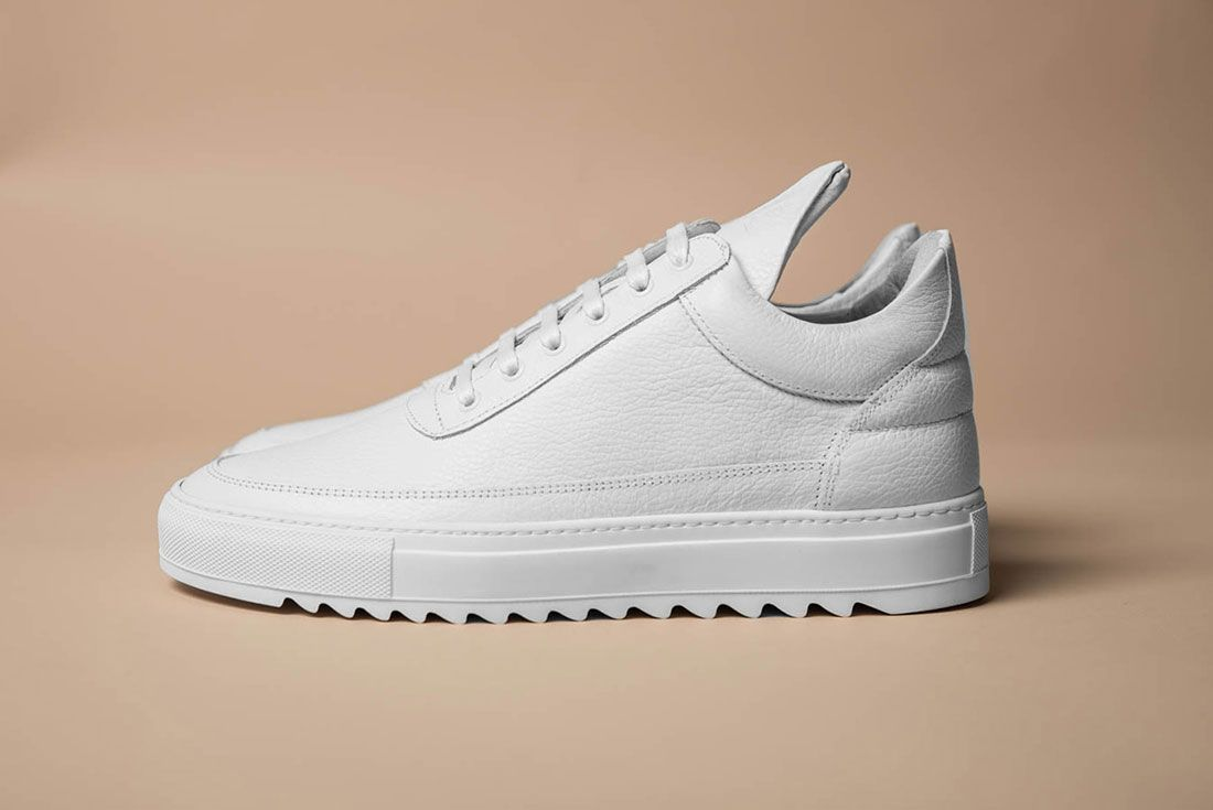 Filling Pieces Low Top Thick Ripple White 1