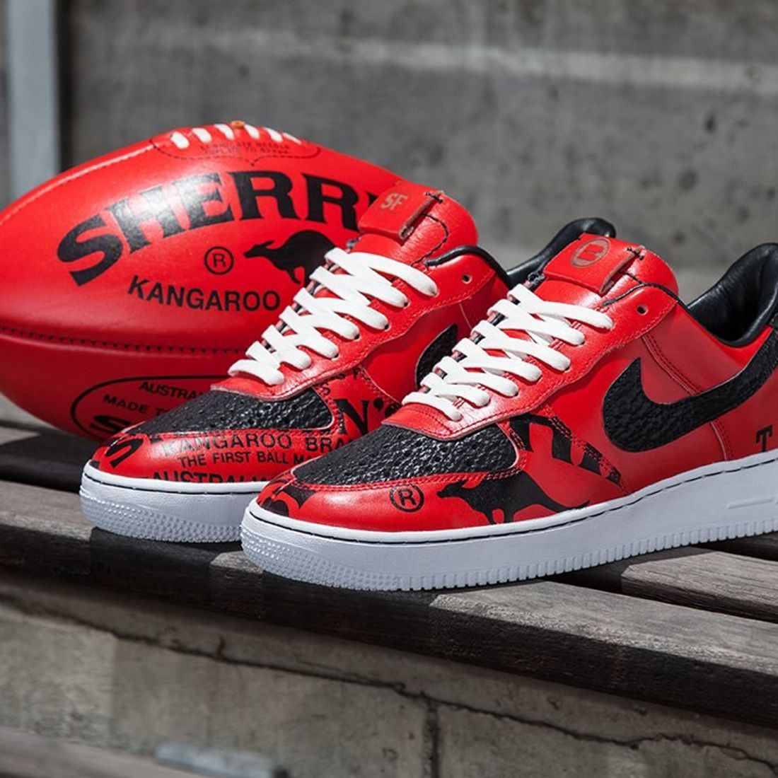 We Created Bespoke Nike Air Force 1s From Sherrin Footballs