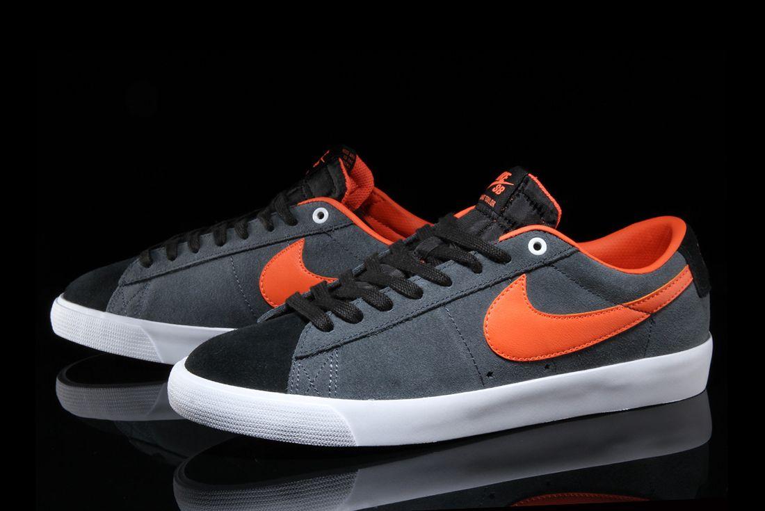 Nike Sb Blazer Low Gt Anthracite Turf Orange 5