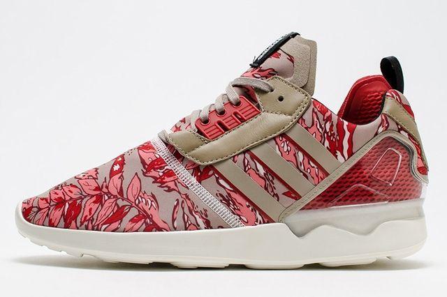 Adidas Zx 8000 Boost Hawaiian Floral Red 1