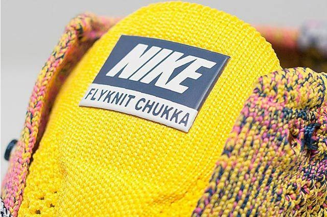 Nike Free Flyknit Chukka Pink Yellow Midnight Navy 03
