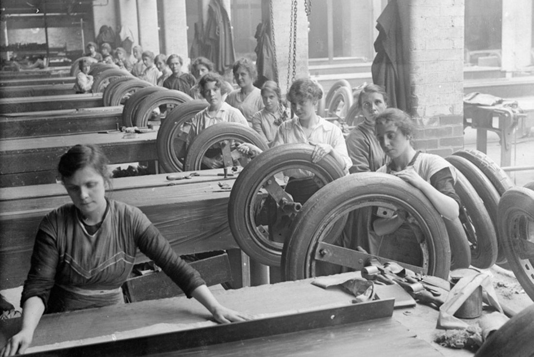 Material Matter Neoprene First World War Tyre Rubber Factory