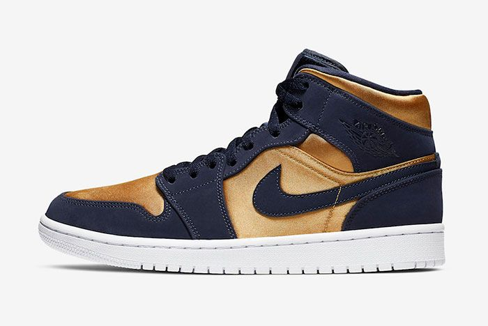 Air Jordan 1 Mid Stain Gold 852542 401 Release Date Side