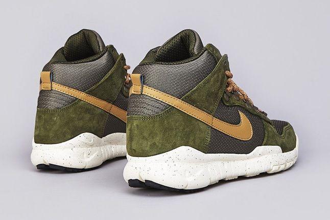 Nike Sb Dunk High Oms Light Green Gold 4