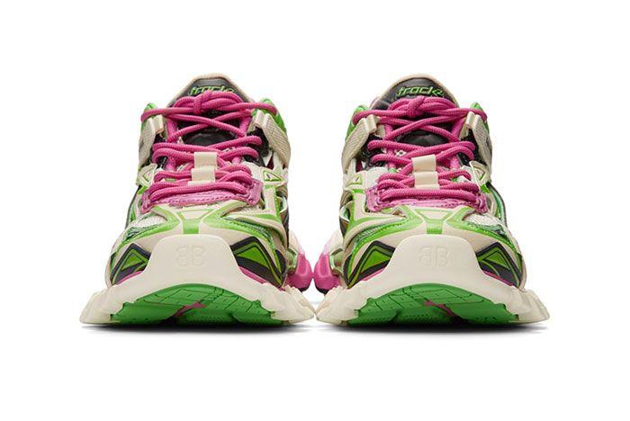 Balenciaga Track 2 Pink Green Toe