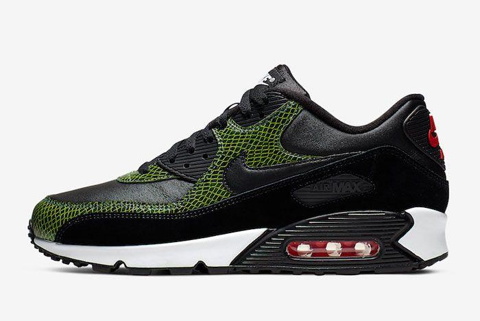 Nike Air Max 90 Green Python Side