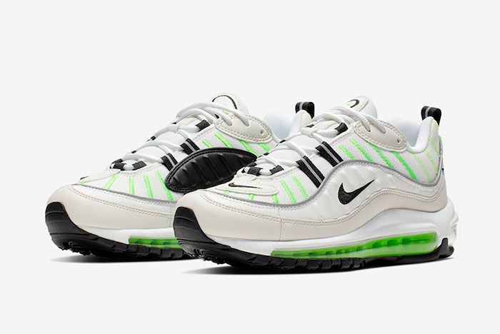 Nike Air Max 98 Phantom Electric Green Ah6799 115 Release Date 1 Pair Side
