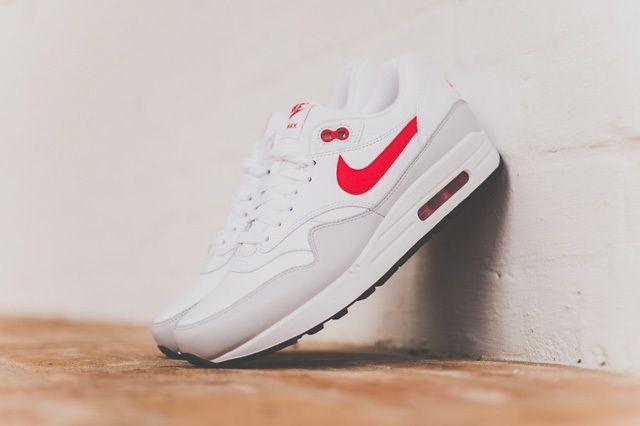 Nike Air Max 1 Leather Og White Uni Red 5