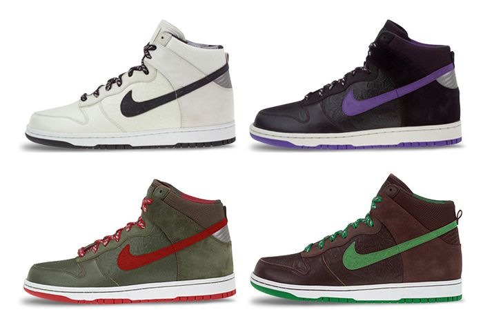 Stussy Nike Dunk Hi World Tour All Lateral Side