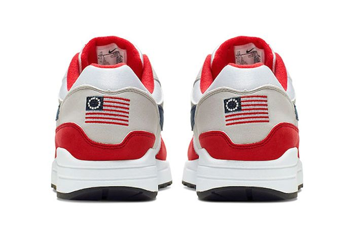 Colin Kaepernick Nike Air Max 1 Betsy Ross Flag 2019 July 4 Release Cancel Wbg