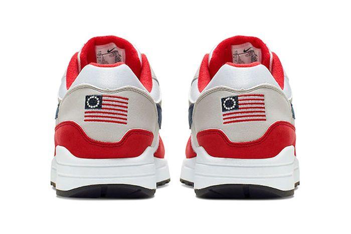 Colin Kaepernick Nike Air Max 1 Betsy Ross Flag 2019 July 4 Release Cancel Wbg