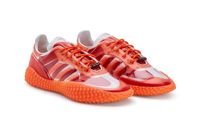 Craig Green Adidas Kamanda Dover Street Market Red Three Quarter Lateral Side Shot