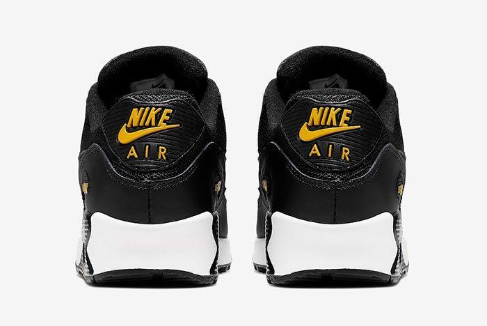 Nike Air Max 90 Black Yellow White Heels