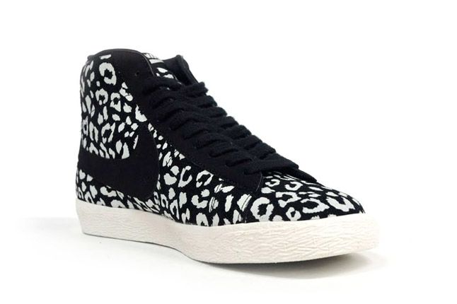 Nike Blazer Mid Black Leopard Quater Toe 1