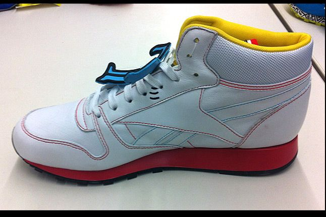 Keith Haring Reebok Cl Leather Mid Lux 12 White Red Inside 1