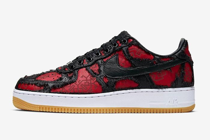 Clot Fragment Nike Air Force 1 Black Satin Burnt