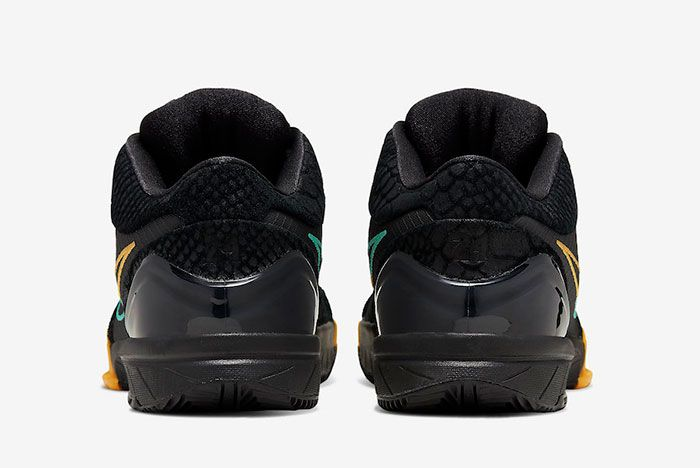 Nike Zoom Kobe 4 Protro Black Snake Aurora Green University Gold Av6339 002 Heel