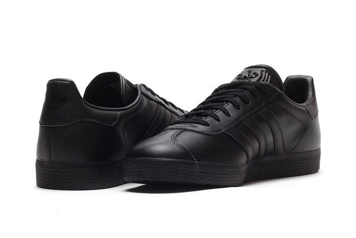 Adidas Gazelle Black Leather 1